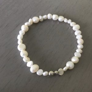 Silpada Freshwater Pearl and Sterling Bracelet